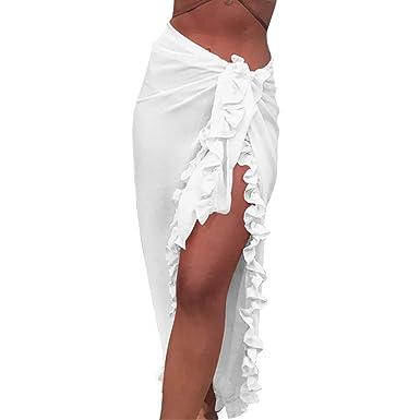 Shujin - Pareo de Gasa para Mujer, Vestido de Playa, Toalla de ...