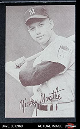 1947 Exhibits OUT Mickey Mantle New York Yankees Baseball Card Batting Legs