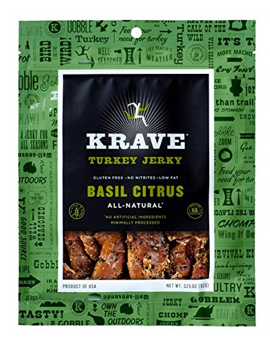 Krave Citrus Basil Jerky 3.25oz (Turkey)