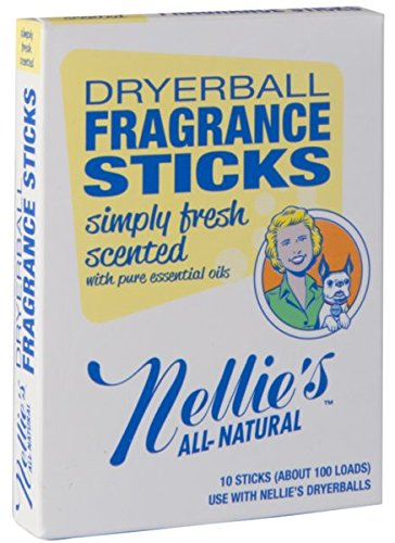 Nellie's All-Natural Fragrance Sticks - Simply Fresh Scented (Product to be used with Nellie's Quick Change PVC Free Dryerballs)