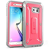 Galaxy S6 Edge Case, SUPCASE Full-body Rugged Holster Case WITH OUT Built-in Screen Protector for Samsung Galaxy S6 Edge (2015 Release), Unicorn Beetle PRO Series - Retail Package (Pink/Gray)