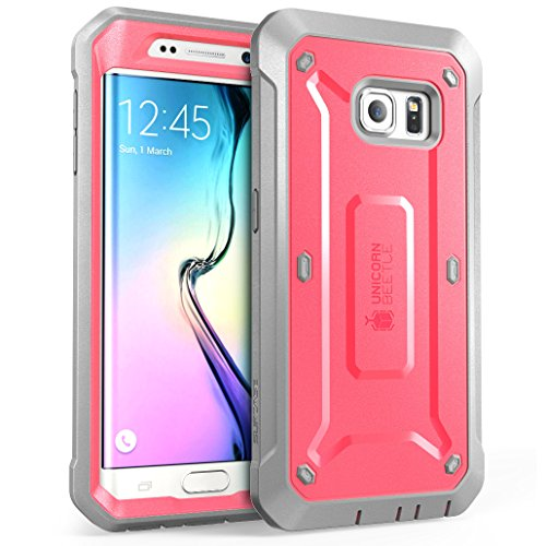 sports shoes 2fead c2feb SUPCASE [Unicorn Beetle PRO Series] Case for Galaxy S6 Edge (2015 Release),  Full-Body Rugged Hybrid Protective Cover with Out Screen Protector (Pink)