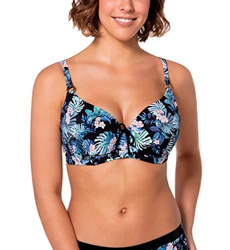 b529f722db Dorina Curves Kuta Padded Underwire Bikini Top (D17027J),38C,Blue Floral