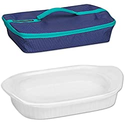 French White 3 qt. Baking Dish with Lid and Portable Case by CorningWare