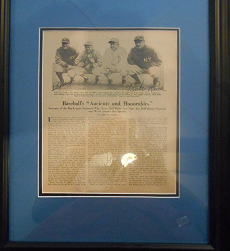 Babe Ruth and Lou Gerhig autographed magazine page for sale  Delivered anywhere in USA