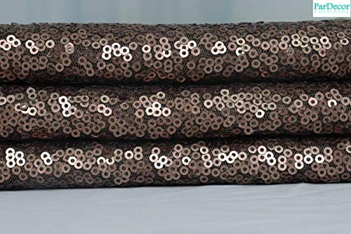 Chocolate-Sequin-Fabric Mesh Fabric Glitter Fabric by The Yard for Disney Ears Decoration Baby Shower Backdrop Curtains Party Table Cloth Runners Decor ~ 0612S