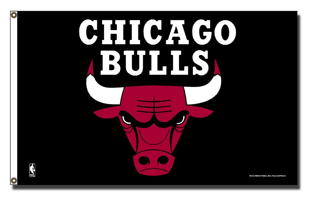 Rico Industries NBA Chicago Bulls 3-Foot by 5-Foot Single Sided Banner Flag with Grommets