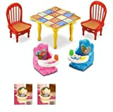 Fisher Price Loving Family Dollhouse Grand Furniture (2 Baby Booster Seats, Table)