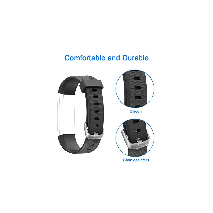 LETSCOM Replacement Bands for Fitness Tracker ID115U or ID115UHR