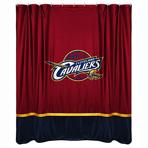 NBA Cleveland Cavaliers Shower Curtain, 72 x 72, Cordovan