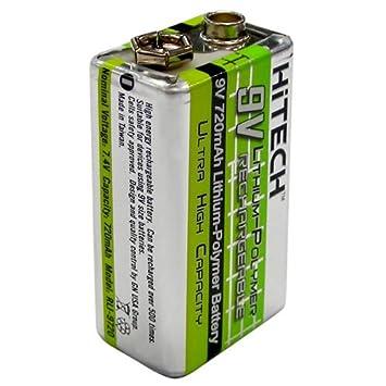 Amazon.com: Hitech – Una Batería De 9 V 720 mAh de polímero ...