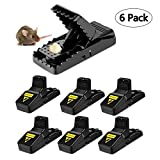 YIZHIYI Mouse trap,Rat Mice Traps Snap Work Power Rodent quick killer 100% Mouse Catcher Cleaning Brush Safe Family Pet,Qucik & Effective & Sanitary(6 Pack)