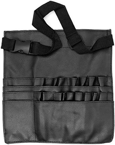 Yuhtech - Estuche de piel sintética para brochas de maquillaje, con correa para cinturón, 22 bolsillos, organizador para brochas de maquillaje: Amazon.es: Equipaje