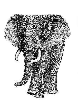 Elefante tatuaje falso tatuaje Tattoo Desechables para cuerpo ...