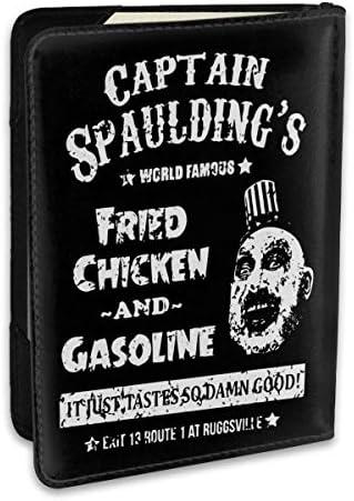 560 Captain Spaulding キャプテン・スポールディング パスポートケース メンズ 男女兼用 パスポートカバー パスポート用カバー パスポートバッグ ポーチ 6.5インチ高級PUレザー 三つのカードケース 家族 国内海外旅行用品 多機能