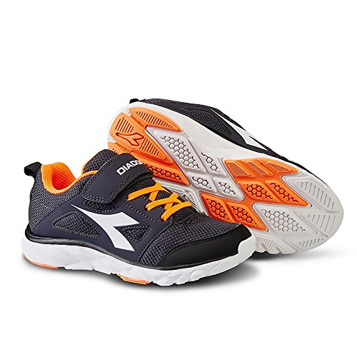 Diadora - Zapatillas de Material Sintético para niño negro Black/White EU