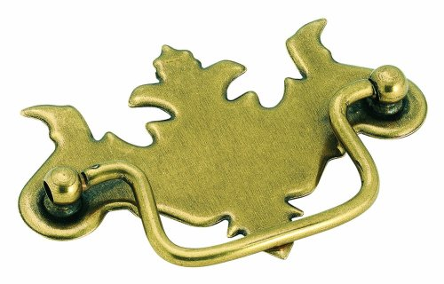 Amerock BP3425-BB Traditional Classics Pull Furniture Swing Handle Burnished Brass, 3-Inch Center to Center