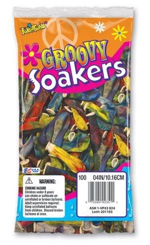 (Pioneer National Latex Groovy Soakers 100 Count Water Balloons, Tye)