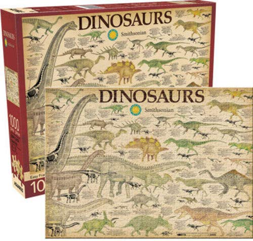 Aquarius Smithsonian Dinosaurs 1000 Piece Jigsaw Puzzle -