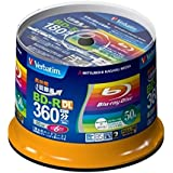 New Verbatim Blu-ray Disc 50 pcs Spindle - 50GB 6x BD-R DL Full HD - Inkjet Printable by Verbatim