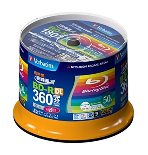 New Verbatim Blu-ray Disc 50 pcs Spindle - 50GB 6x BD-R DL Full HD - Inkjet Printable by Verbatim by Verbatim