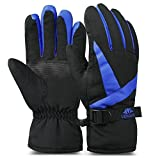 Search : Vbiger Ski Gloves Snow Mittens Waterproof Winter Warm Cycling Gloves (M, Blue 3)