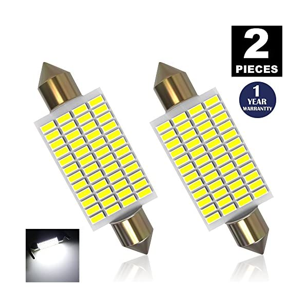 LUYED 2 X 570 Lumens Super Bright 3014 48 EX Chipsets 569 578 211 2 212 2 LED Bulbs Used For Dome Light,Xenon White