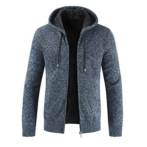 Tsmile Men Coat Fashion Men's Autumn Winter Zipper Fleece Hoodie Outwear Casual Sweater - Fleece Barbour