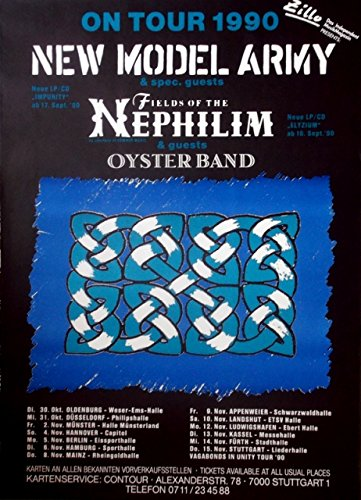 NEW Model Army - 1990 - Tour de cartel de - Fields of the ...
