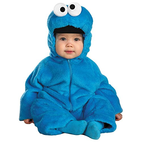 Baby Cookie Monster Costumes (Cookie Monster Deluxe Costume - Baby 12-18)