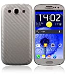 Skinomi TechSkin - Samsung Galaxy S3 Screen Protector + Carbon Fiber Silver Full Body Skin / Front & Back Premium HD Clear Film / Ultra Invisible and Anti Bubble Shield