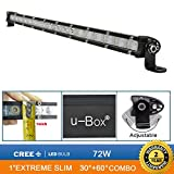 "u-Box Cree Chip 1"" Extreme Slim 25inch 72W Led Light Bar Work Lights Flood Spot Combo Beam Waterproof for 4wd SUV UTE Offroad Truck ATV UTV"