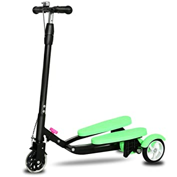 QXMEI 3 Ruedas Plegables Tri Slider Motion Winged Drifter Wiggle Scooter para Mayores De 3 Años