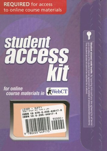 Student Access Kit for Online Course Materials in WebCT