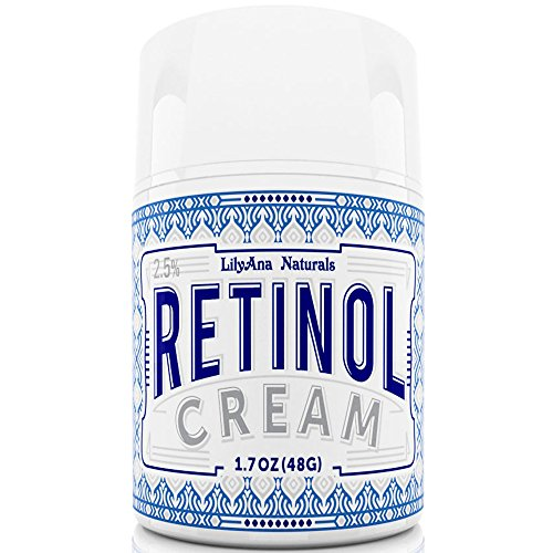 Retinol Cream Moisturizer for Face and Eyes, Natural and Organic Ingredients - 1.07 OZ
