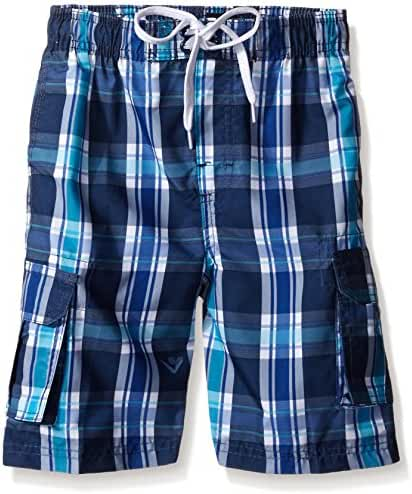 Kanu Surf Boys' Paradigm Plaid Swim Trunk
