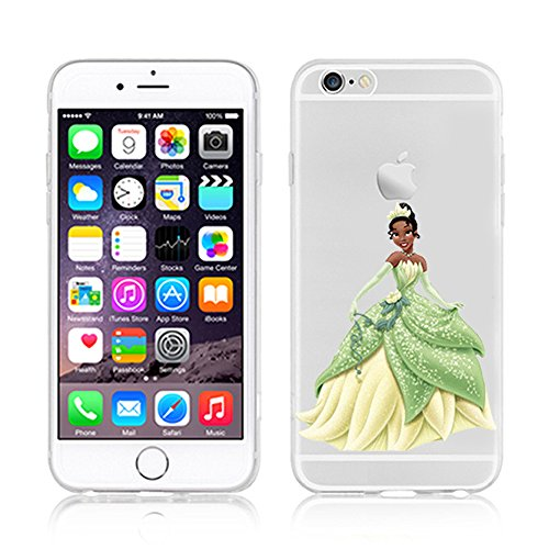 NEW DISNEY PRINCESSES TRANSPARENT CLEAR TPU SOFT CASE FOR APPLE IPHONE 7 - TIANA