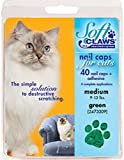 Feline Soft Claws Cat Nail Caps Take-Home Kit - Medium - Green by Soft Claws