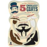 Mr. Moustachio Five Gnarliest Goats of All Time, Fake Goatee Costume Party Assortment