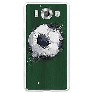 Funda Gel Microsoft Lumia 950 BeCool Balón de Fútbol Efecto Líquido