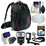 Manfrotto Pro Light Bumblebee-230 DSLR Camera Backpack with Flash + Video Light + Diffuser + Flash Filters + Sling Strap + Kit