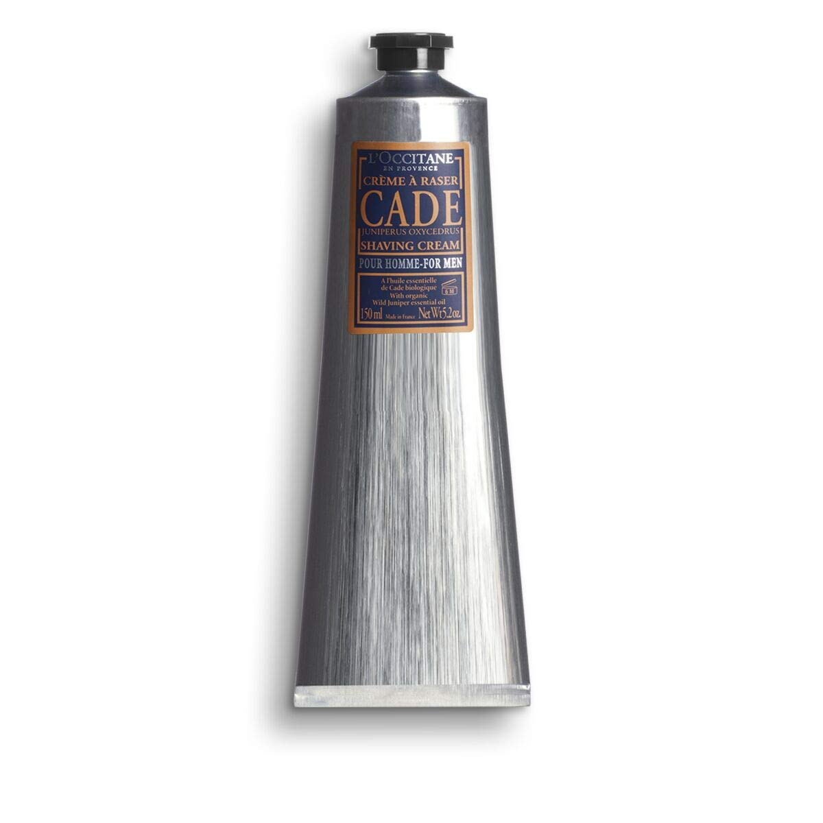 L'Occitane Cade Shaving Cream Enriched with Essential Oils and Shea Butter, 5.2 fl. oz. by L'Occitane