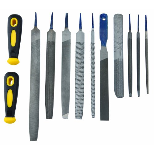 12 Piece File and Rasp Set: Two-way, Half-round, Mill Saw, Taper Saw Files and Half-round, Round, Shoe - Mills Pittsburgh