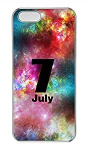 iPhone 5 5S Case Galaxy Space Jult 7 Cover Skin For iPhone 5/5S Cases Transparent