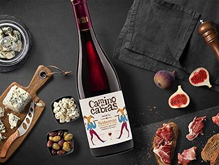 CAMINO DE CABRAS Estuche de vino - Mencía Crianza - vino tinto – D.O. Valdeorras – Producto Gourmet - Vino para regalar - Vino Premium - 2 botellas x 750 ml.