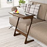 Coffee and End Tables HOMFA Bamboo TV Tray Sofa Couch Coffee End Table, Z-Shaped Portable Laptop Desk Bed Side Table Snack Table Modern Furniture Home Office