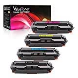 ValueToner Compatible Toner Cartridges for HP 410A CF410A CF411A CF412A CF413A for HP Color LaserJet Pro MFP M477fnw M477fdn,Pro M452dn M452nw M452dw Printers, 4 Pack (Black/Cyan/Magenta/Yellow)