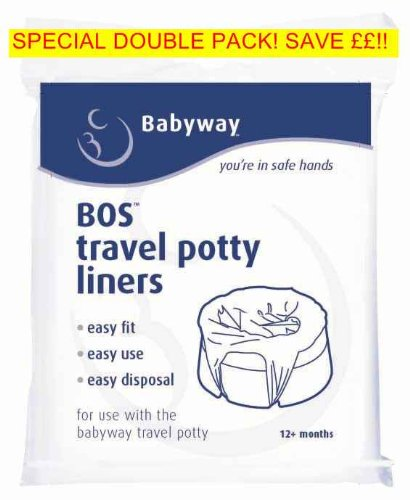 Babyway Travel Potty Liners 2 pack - 20 LINERS