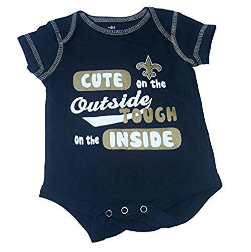 ラウンド  新しいOrleans SaintsキュートTough外側内側Infant Onesieサイズ24ヶ月ボディースーツ – B072BJGV8R ブラック&ゴールドクリーパー B072BJGV8R, カナシチ:454dfcfe --- a0267596.xsph.ru