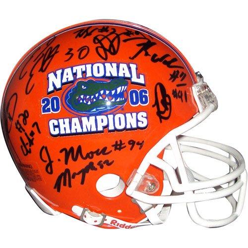 2006 Florida Gators National Championship Team Autographed (BCS Champs) Mini Helmet